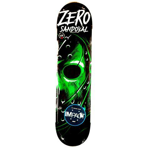 zero skateboard deck 75 zero sandoval friday impact light deck 7 75 forty