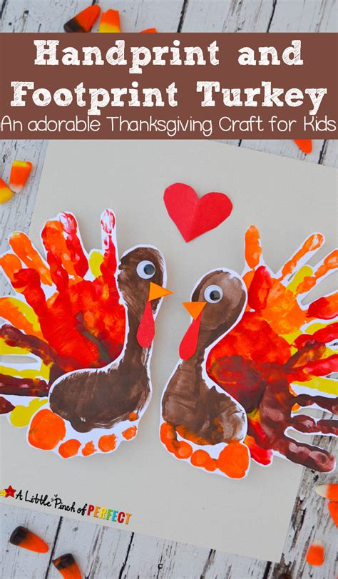 november art projects for preschoolers handprint and footprint turkey an adorable thanksgiving 788