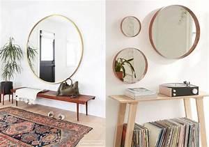 Miroir Rond Laiton : adoptez un miroir rond joli place ~ Teatrodelosmanantiales.com Idées de Décoration
