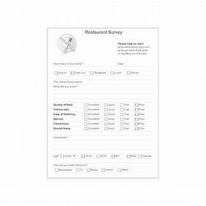 restaurant survey form With restaurant questionnaire template