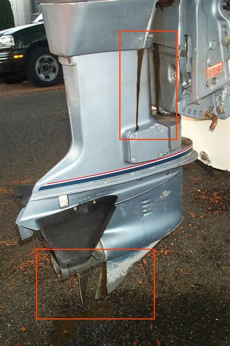 Boat Leaks Around Plug by 87 Evinrude 90hp 2 Leaks Loss Of Horsepower Page 1