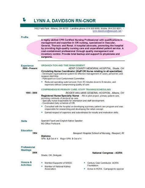 Rn Resume Objective by Resume Objective Sle Template Resume Objective