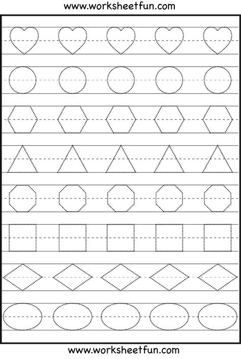 shape tracing letters more lots of preschool tracing