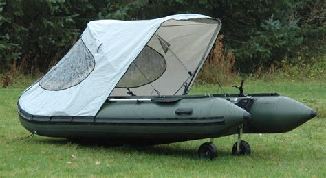 Fishing Off An Inflatable Boat by Bison Marine Bimini Cockpit Tent Canopy For Inflatable