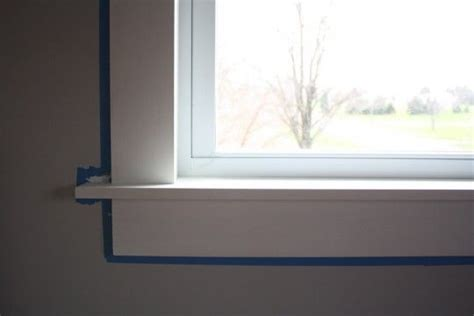 How To Frame A Window Sill by Modern Window Sill Happy With This Clean Sleek