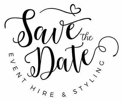 Date Transparent Event Typography Menyimpan Tanggal Stylist