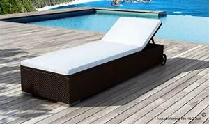 Matelas Bain De Soleil Epais : bain de soleil design en rsine tress marron avec matelas rembourr ~ Melissatoandfro.com Idées de Décoration