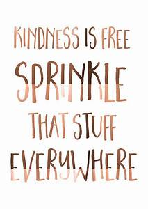 LARGE A3 Copper Foil Print Kindness is free by ...
