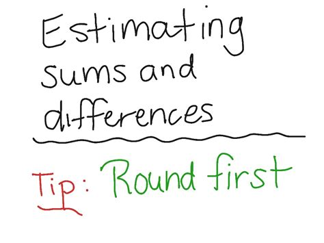 estimating sums worksheets kids activities