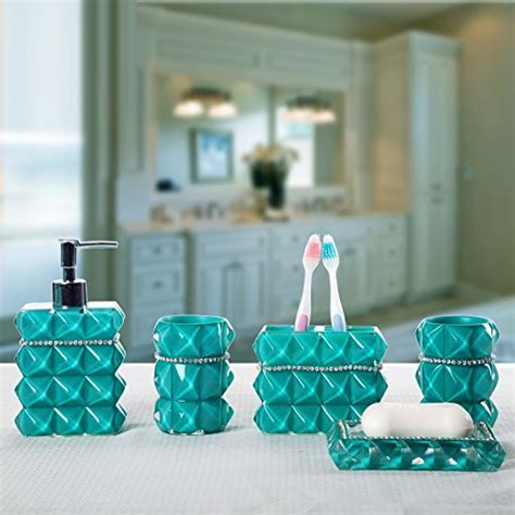 Teal Colored Bathroom Accessories by Teal Bathroom Accessories Set