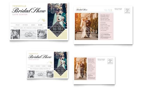 postcard design template bridal show postcard template design