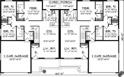 3 bedroom duplex plans duplex country style house plans 2514 square foot home