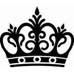 Crown Queen Silhouette Vector Clip Corona Line