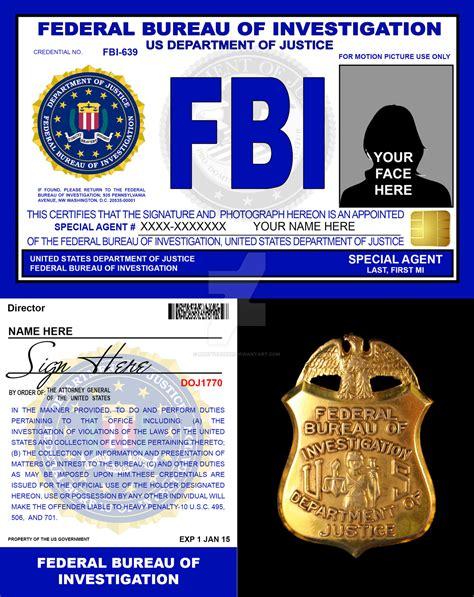 fbi bureau of investigation fbi credentials v2 by rustybauder on deviantart