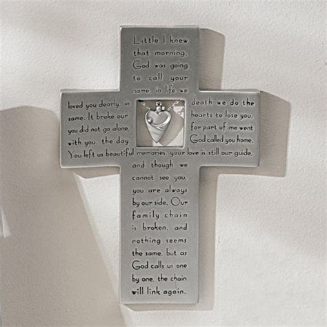This Pewter Memorial Frame Features The Beloved Broken Chain Poem