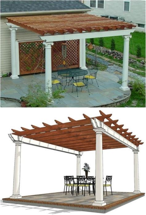 Patio Design Plans by 20 Diy Pergolas With Free Plans That You Can Make This