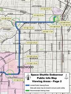 Advisory: Space Shuttle Endeavor route and Public Viewing ...