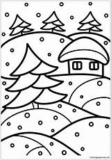 Stained Winter Glass Pages Coloring Printable Nature Coloringpagesonly sketch template