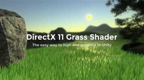 unity directx  grass shader trailer youtube