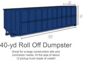 Roll Off Dumpster Rental Sizes