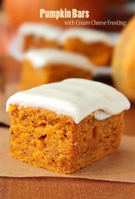 pumpkin bars  cream cheese frosting sugar apron