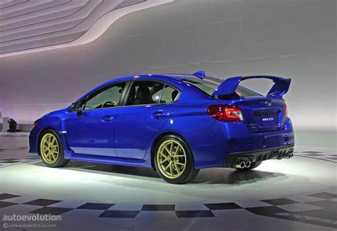 2015 Subaru Wrx Sti Is Winged To The Teeth [live Photos] Autoevolution