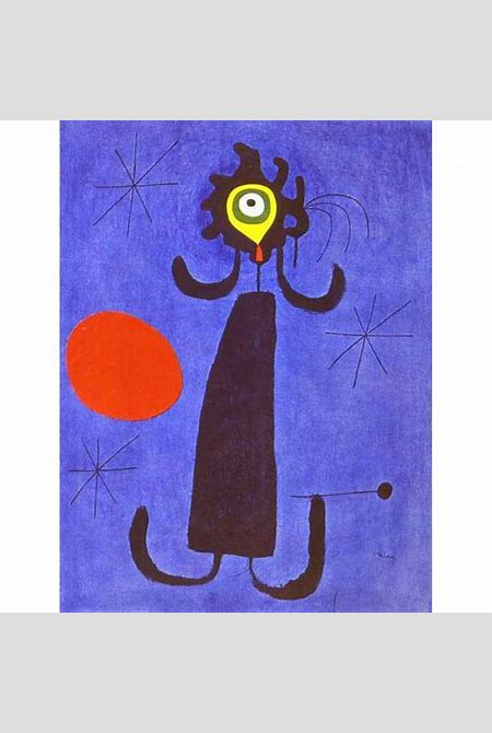 Joan Miro Woman in Front of the Sun