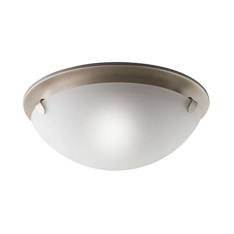 shop kichler lighting 13 in w brushed nickel ceiling flush