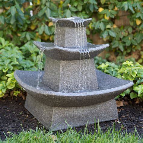 zen lighted outdoor fountains at hayneedle