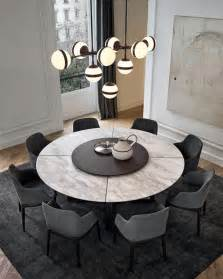 table salle a manger ronde a rallonge voici la salle 224 manger contemporaine en 62 photos salons places and decoration