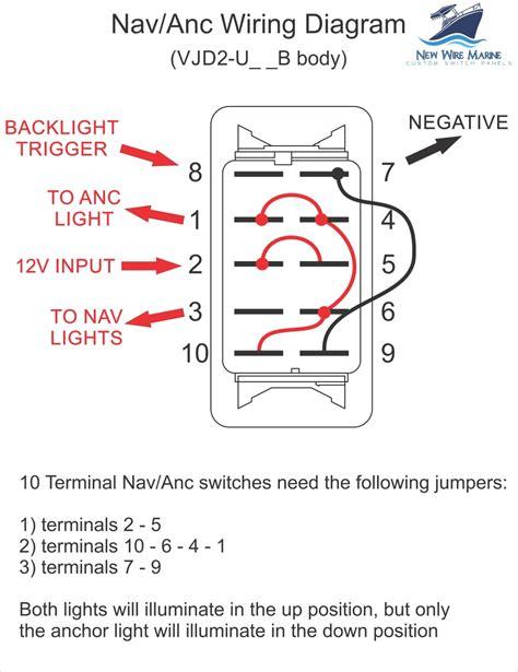 8 Terminal Rocker Switch Wiring Diagram by Nav Anc Illuminated Rocker Switch Contura V Backlit
