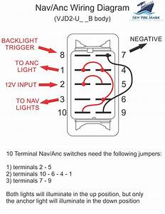 Marine Rocker Switch Nav Light Wiring Diagram