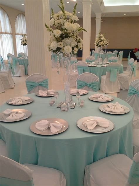 tiffany blue table decorations quinceanera simple elegance in tiffany blue white