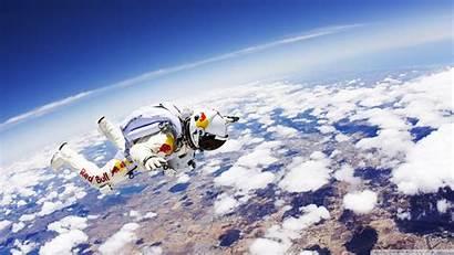 Bull Skydiver Space Wallpoper Cool