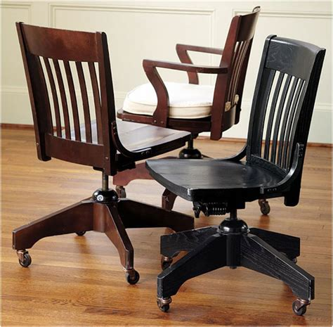 vintage wooden swivel desk chair ideas interior design ideas