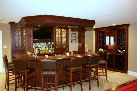 Home Built Bar by Bar Stand Alone Wine Rack And Glassware Built Ins