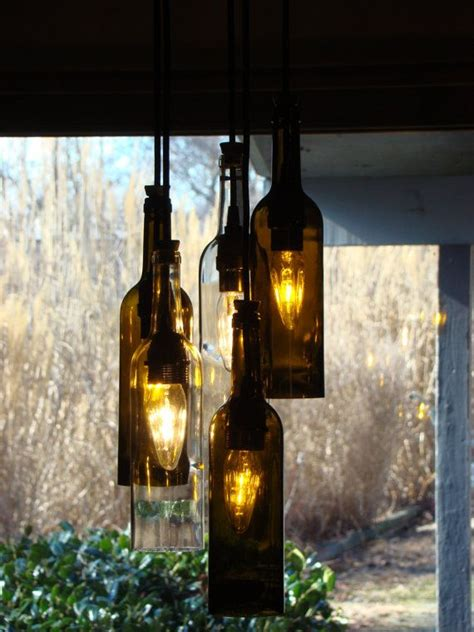 wine bottle chandelier light