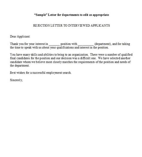 candidate rejection letter tipsenseme