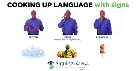 Cooking Up Language With Signs