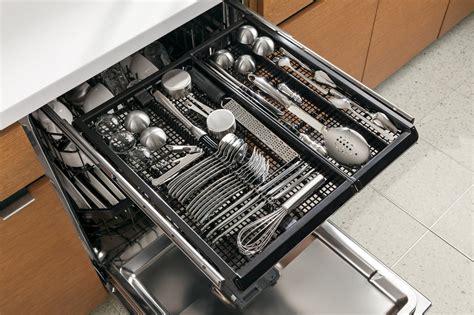 rack dishwasher ge dishwashers cutlery miele profile stainless steel third 3rd utensil racks silverware tray kitchenaid cleaning interior holder appliancist