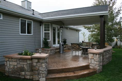 outdoor covered patio covered sted concrete patio with