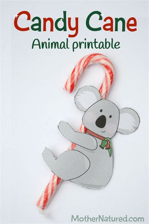 printable candy cane animal tags   love