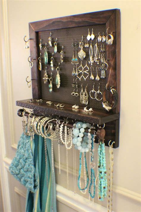 wall mounted jewelry organizer woodworking projects plans