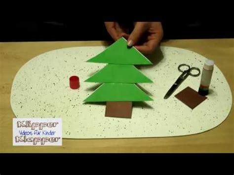weihnachtsbasteln mit kindern wir falten einen tannenbaum basteln fuer kindergarten youtube