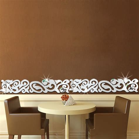 removable waist mirror wall stickers skirting acrylic home