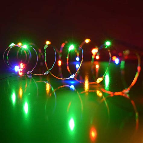 multi color ultra thin twinkling lights 30 lights 60 inches - Multi Color Led Twinkle Lights