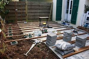 construction dune terrasse en bois etape 1 graphiste With construction d une terrasse en bois