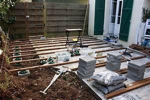 construction dune terrasse en bois etape 1 graphiste With fabrication d une terrasse en bois