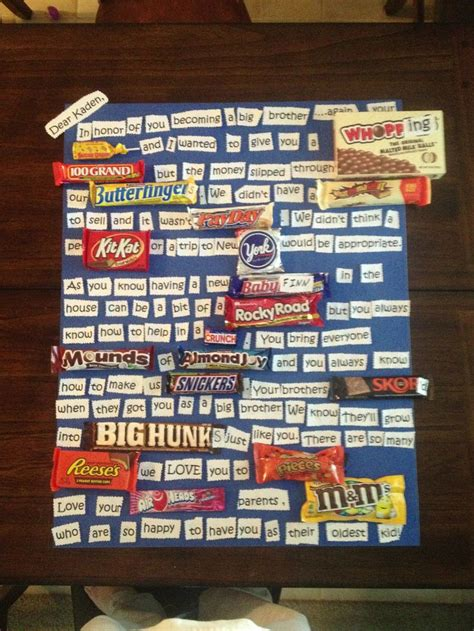 big brother gift candy card gifts big brother gifts