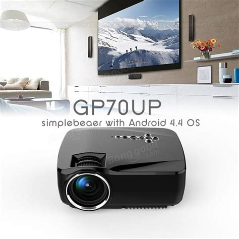 gp70up android 4 4 mini led projector with play updated by gp70 portable projector 1g 8g